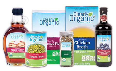 a picture of organic products